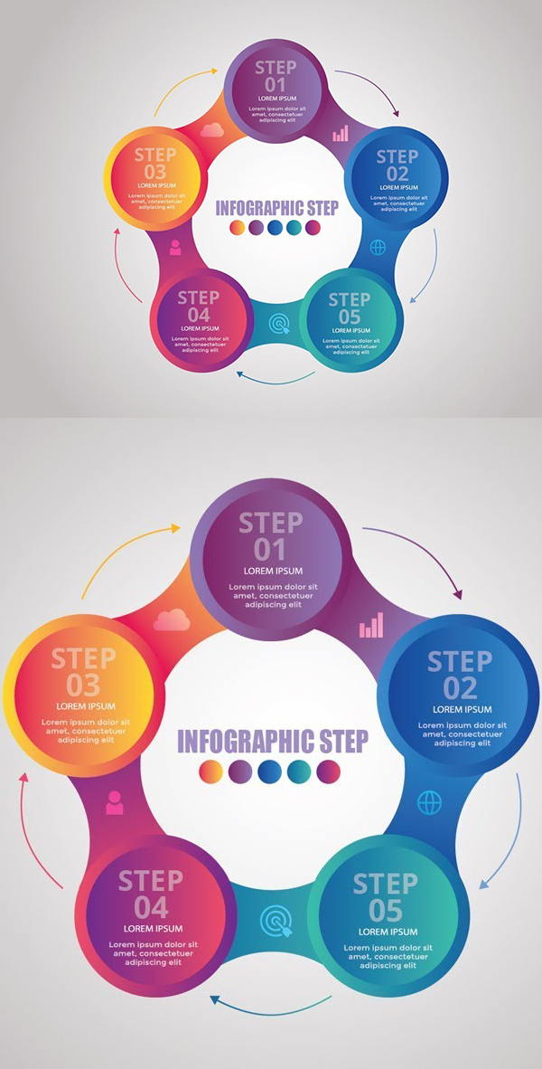 How to Create Colorful Infographic Design in Illustrator Tutorial