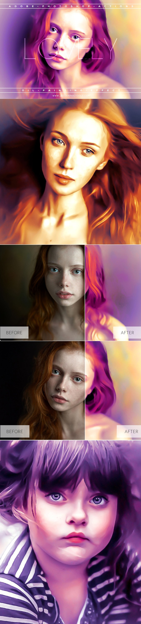 Lovely Oil Painting Effect Actions