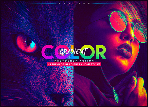 Color Gradient Photoshop Action