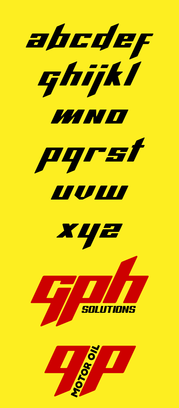 Ammonite Free Font Letters