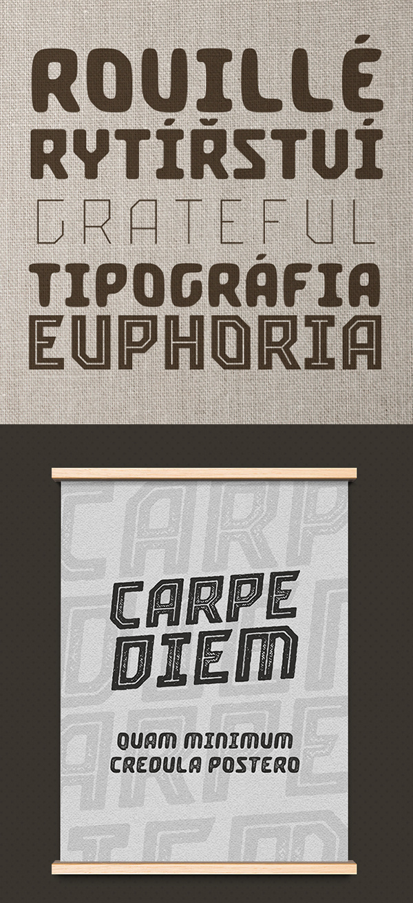 Crimstone Rounded (upright and italic only) Free Font Letters