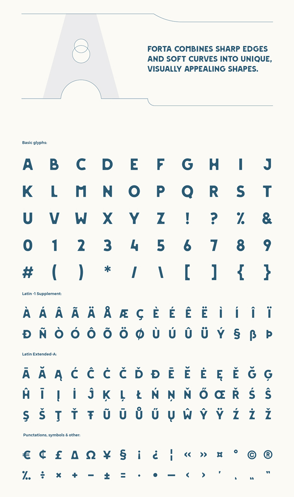 FORTA Free Font Letters