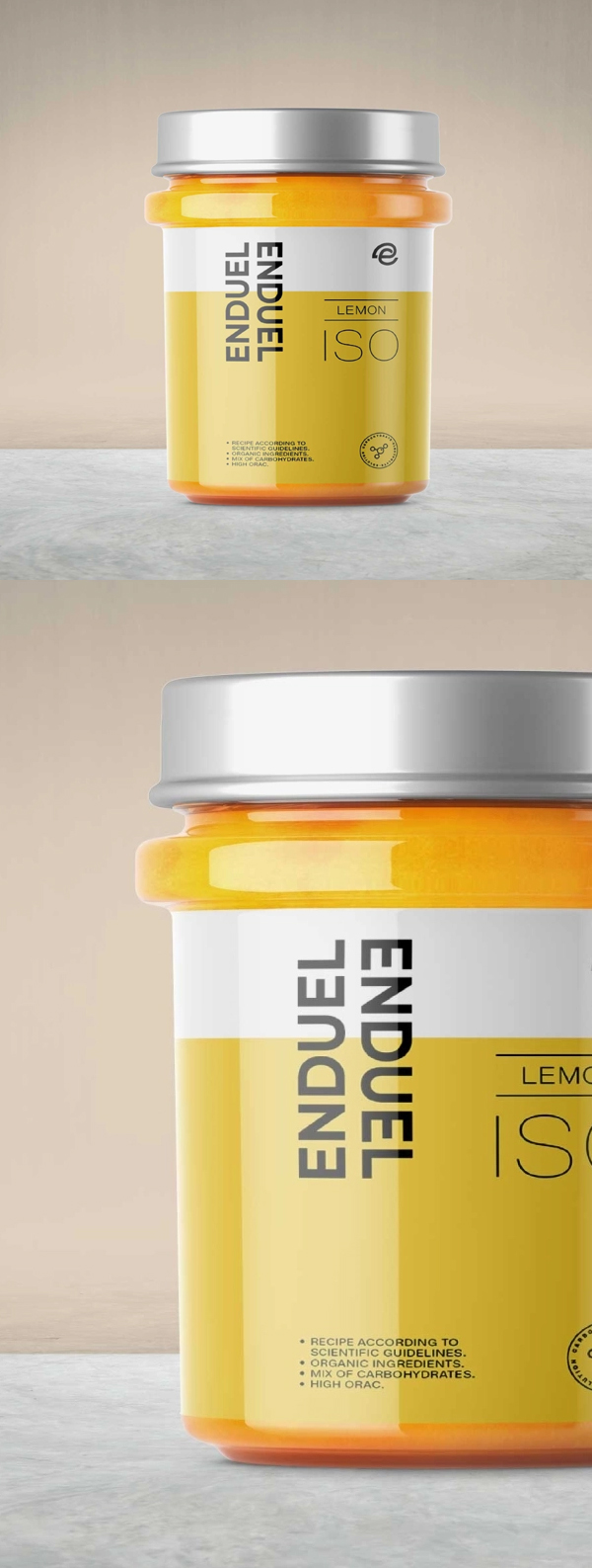 Free Lemon Cream Container Mockup