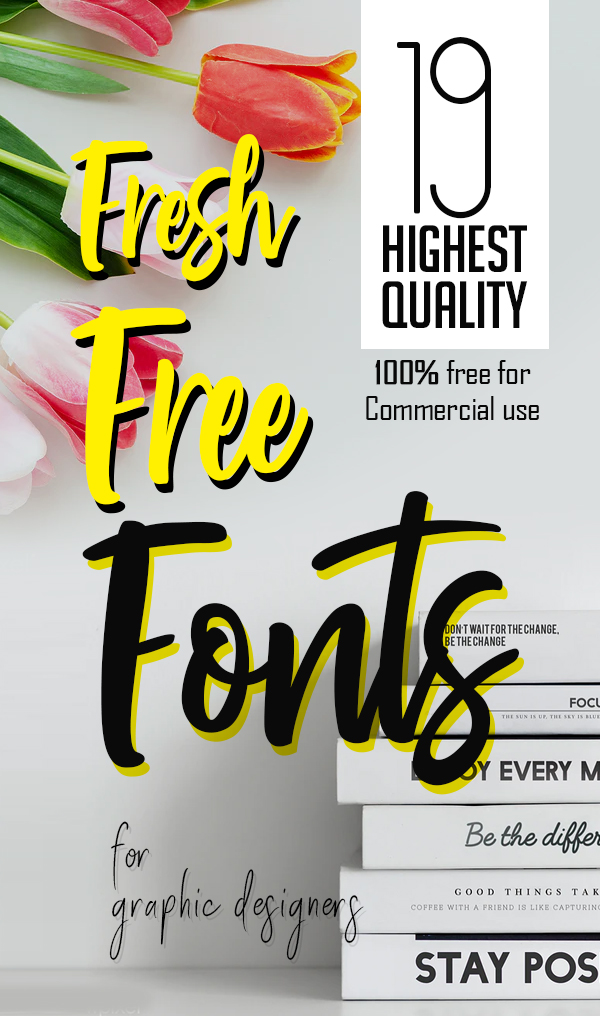 19 Fresh Free Fonts for Graphic Designers