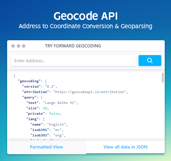 Geocodeapi and everything it has to offer