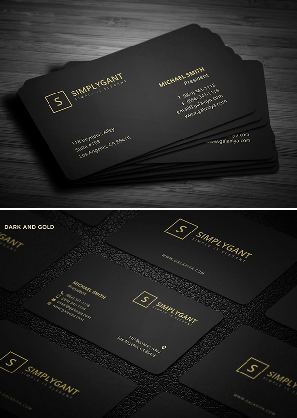 Luxurious Gold Business Card Template