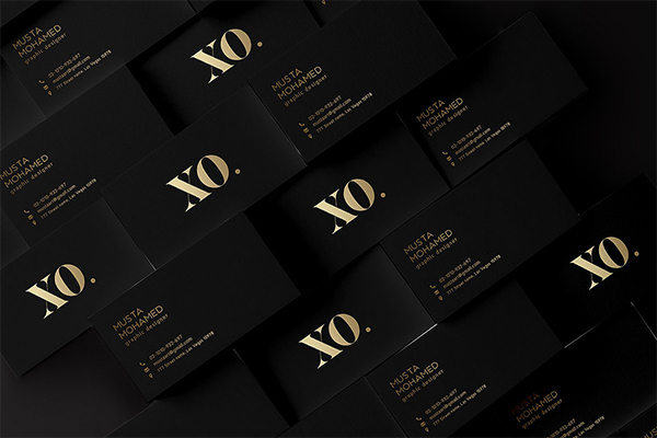 Black x Gold Business Card Template
