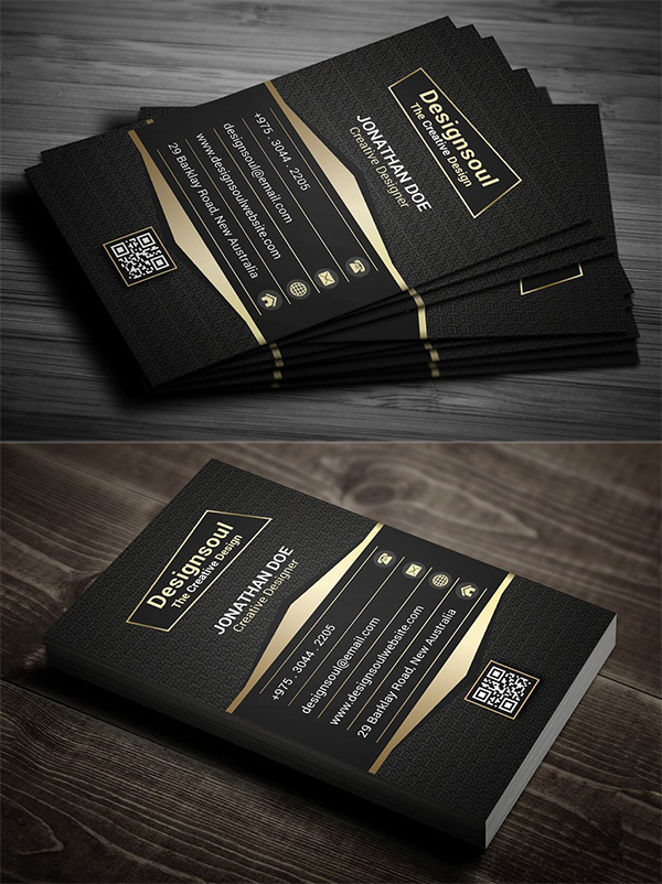 Creative Gold Business Card Template