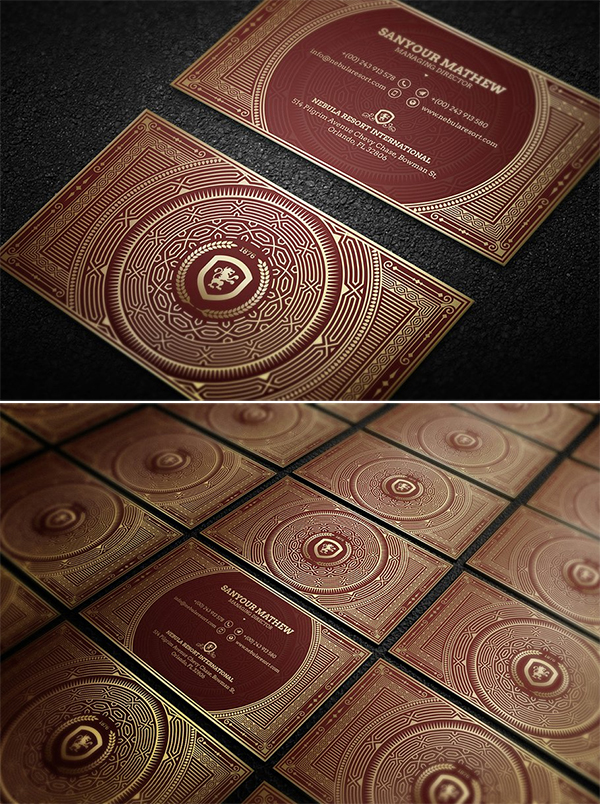 Gold Luxury Business Card Template