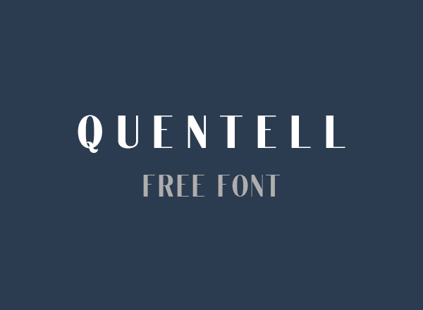 Quentell Free Font