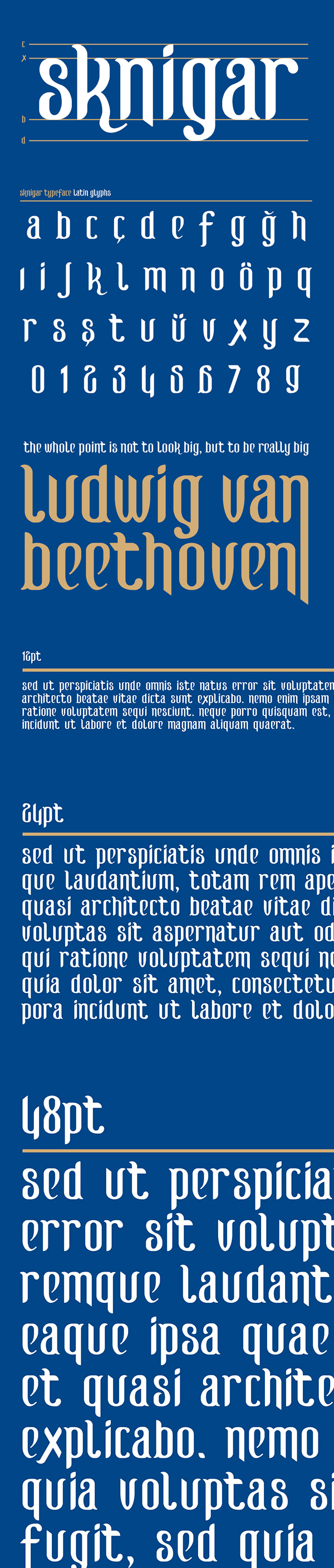 SK Nigar Free Font Letters
