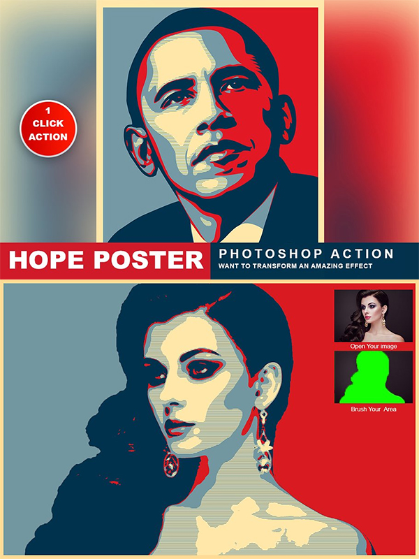 Hope Poster Photoshop Action