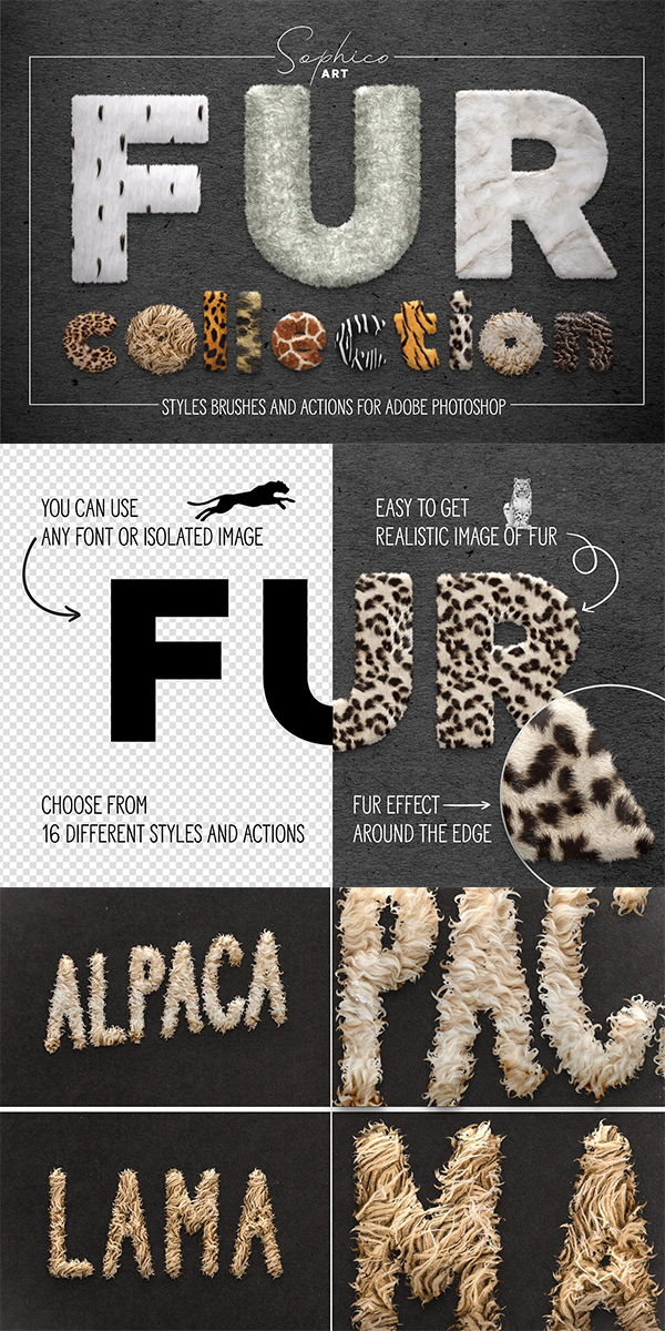 Fur Styles, Actions, Brushes