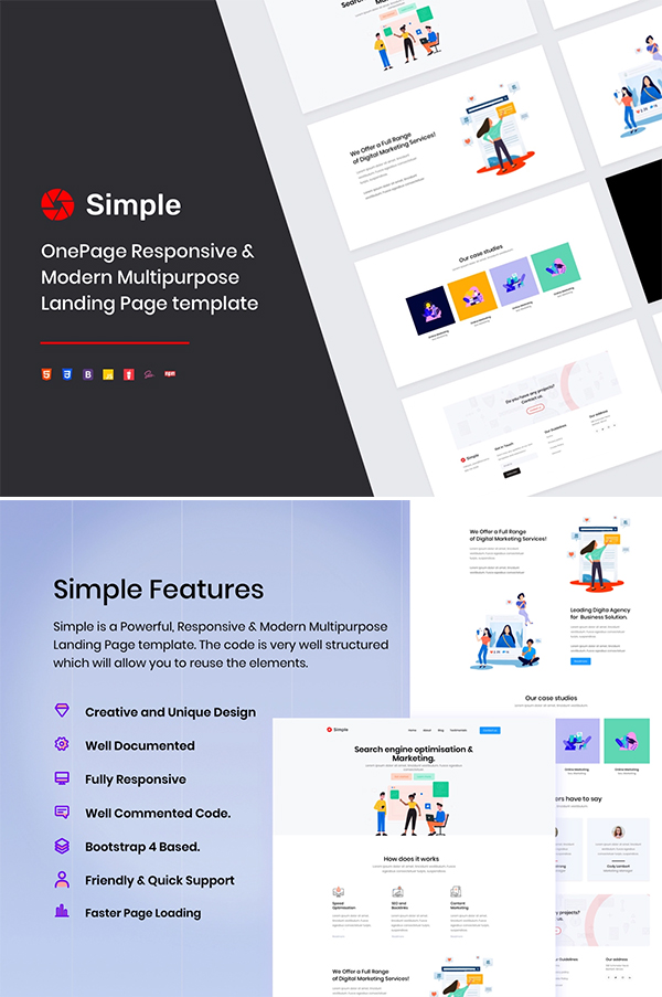 Simple Free Landing Page