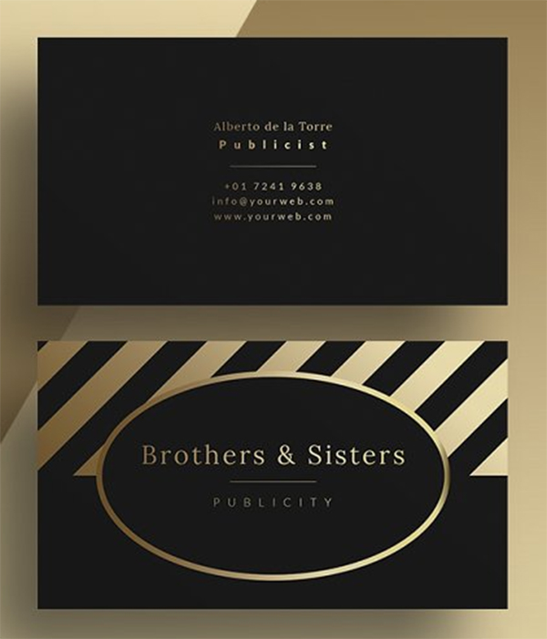Gold - Business Card Template