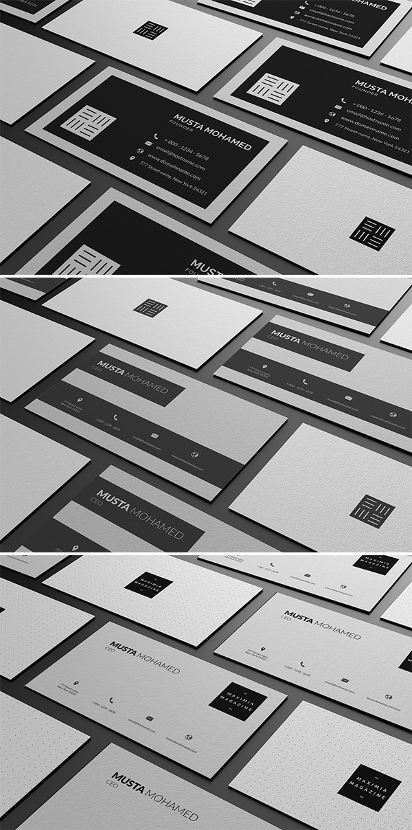 Clean Minimal Business Cards Template
