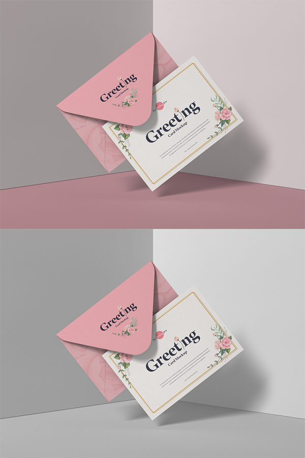 Free modern PSD greeting card model