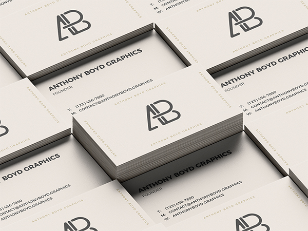 Business card grid model