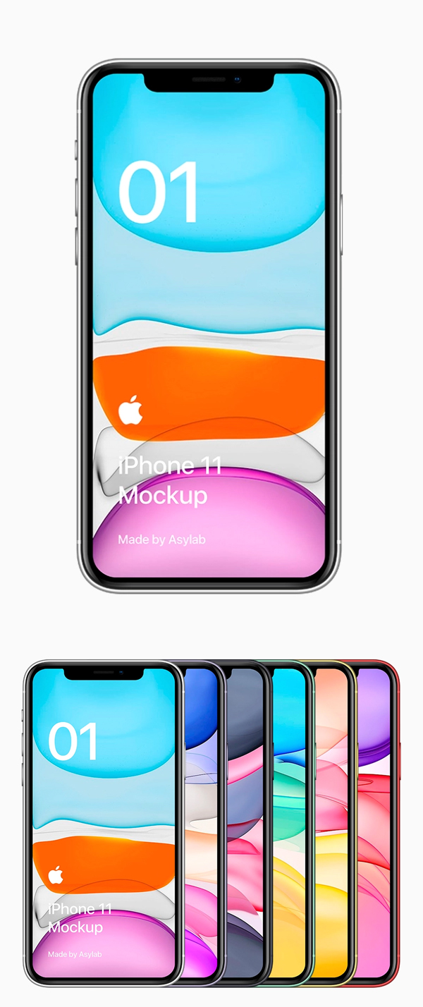 Freebie iPhone 11 Mockup – PSD