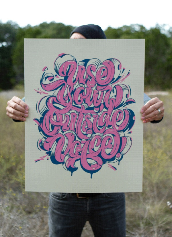 Remarkable Lettering and Typography Designs for Inspiration - 36