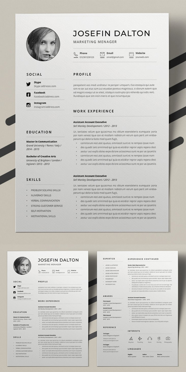 50  best cv resume templates 2020
