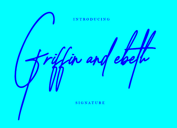 Free Griffin and Ebeth Signature Font