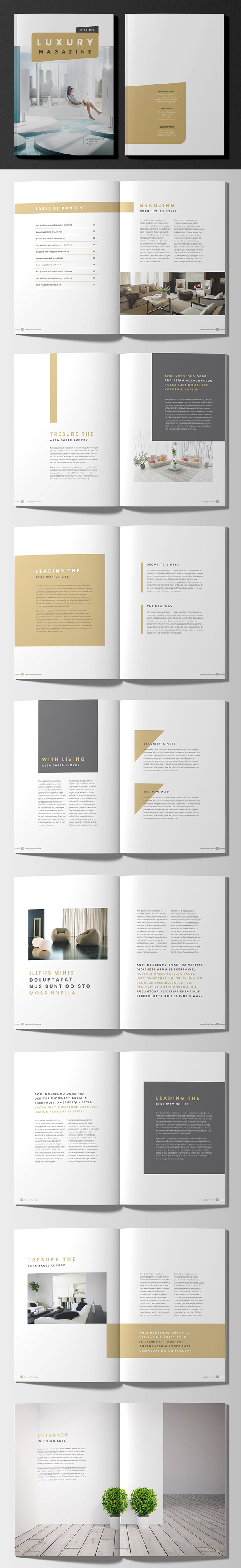Luxury Lifestyle Magazine Brochure Template