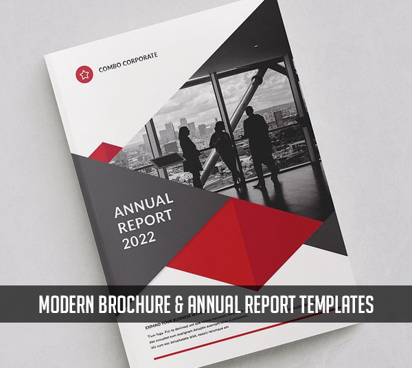 Modern Brochure and Annual Report Templates