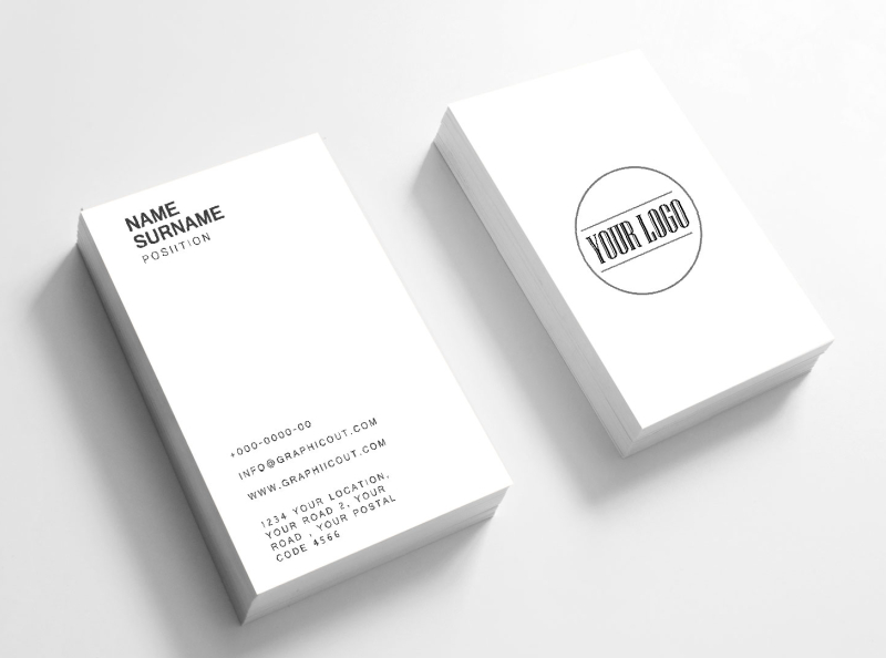 Free Minimal Business Card Mockup Template