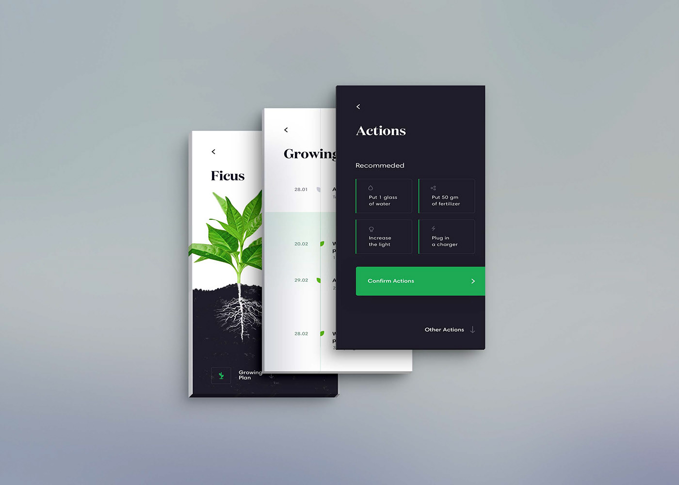 Free App Screen Front View MockUp