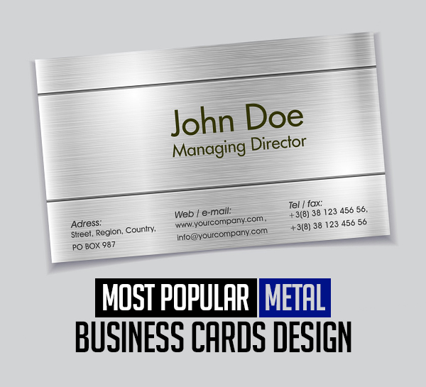 Most Popular Metal Business Cards design Of 2020