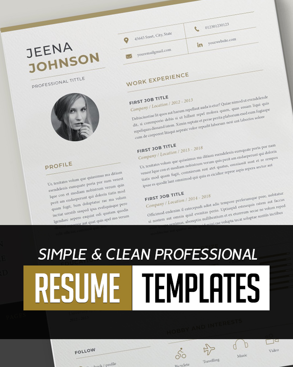 New Professional CV / Resume Templates with Cover Letters