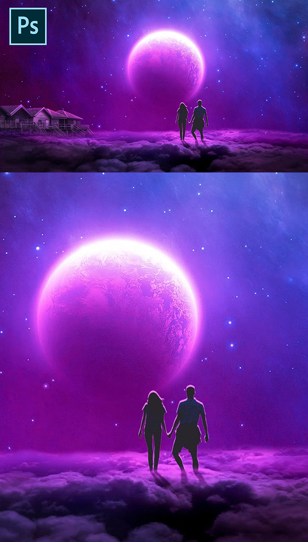 How to Create Fantasy Galaxy Manipulation in Photoshop Tutorial 2020