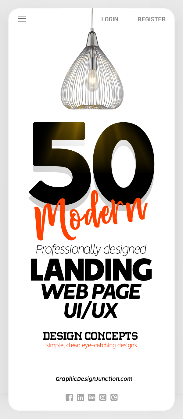 50 Modern Landing Page Design Concepts