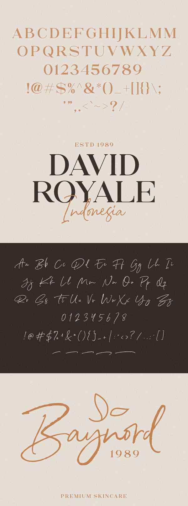 North Avellion Font Duo Free Font Letters