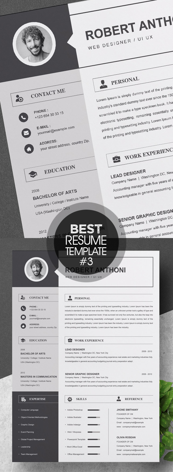 Pages Resume Template / CV Design