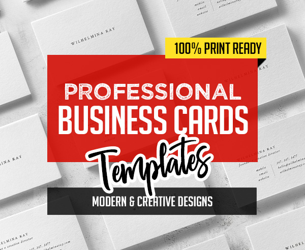 New Professional Business Cards – 25 Print Ready Templates