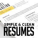 Post thumbnail of 25 Clean CV / Resume Templates with Cover Letters