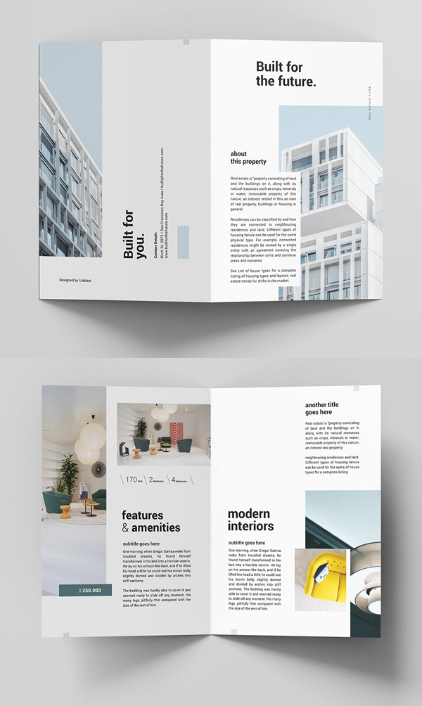 Free Real Estate Bifold Brochure Template