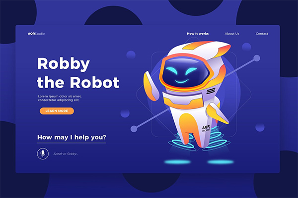 Robot Manager - Banner & Landing Page