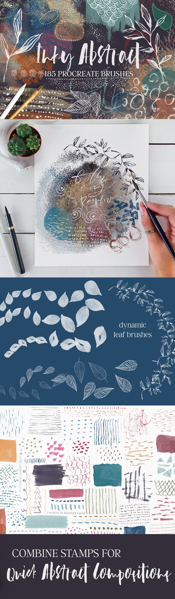 Inky Abstract Procreate Brushes