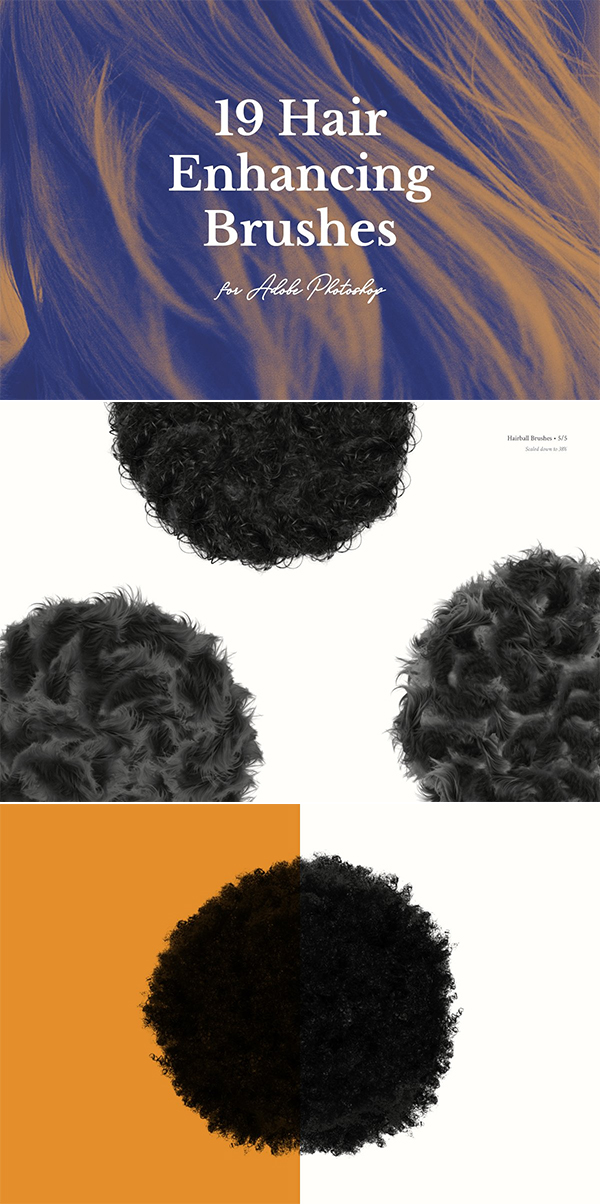 19 Hair Enhancing Brushes for PS