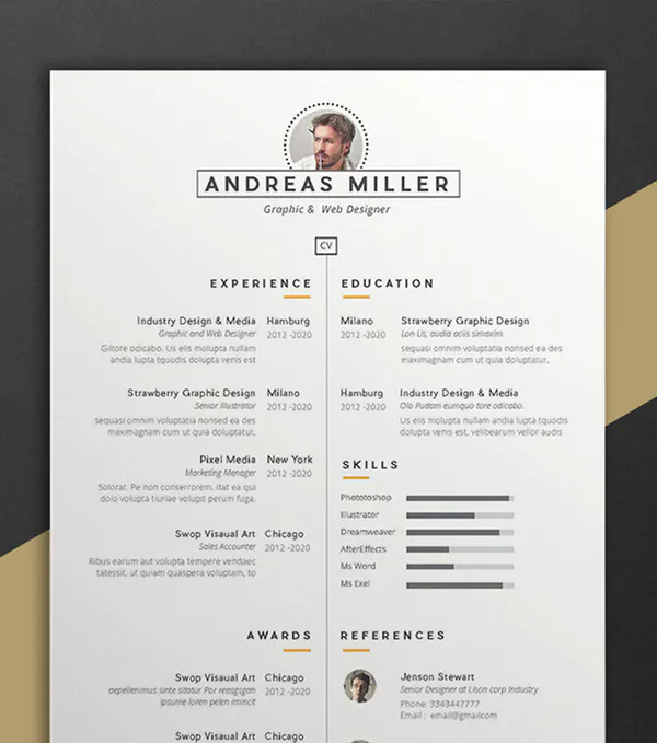 Andreas Resume CV Template