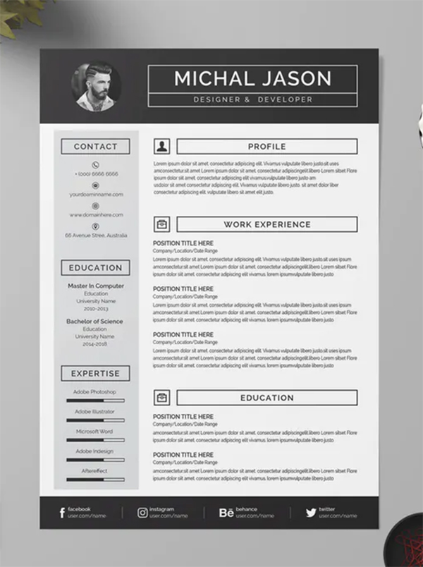 Awesome Creative Resume Template