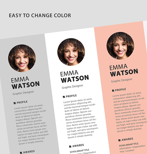 Free Resume Template PSD View - 4