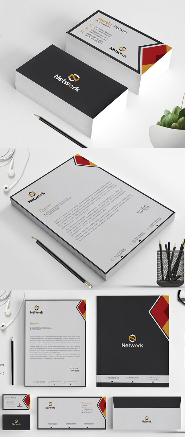 Elegant Corporate Identity Stationery Pack