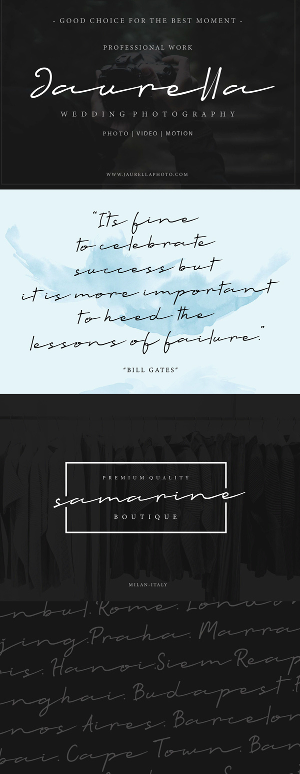 Talesian Signature Bold Free Font Letters