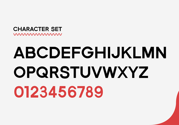 Eberley Free Font Letters
