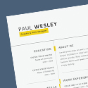 Post thumbnail of Free Resume Template & Cover Letter (PSD) + Business Card