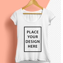 Post thumbnail of Free Women T-Shirt Mockup PSD